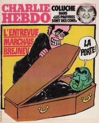 Cabu-charlie-entrevue Marchais Brejnev