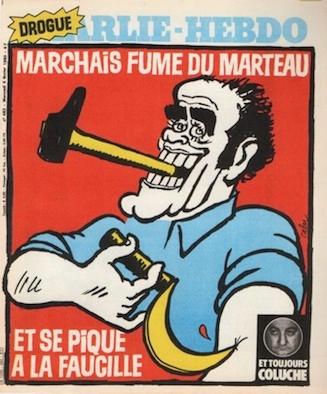 Cabu-charlie-Marchais fume du marteau