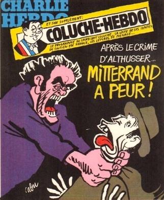 Cabu-charlie-Mitterrand a peur