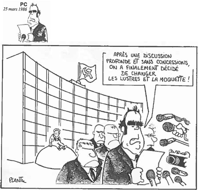 Plantu-ça manque de femmes (117) Mars 1986 - discussion comité central