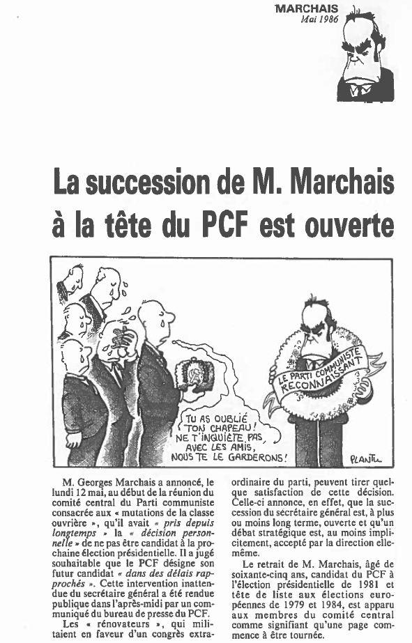 Plantu-ça manque de femmes (143) - Mai 1986 succession Georges Marchais