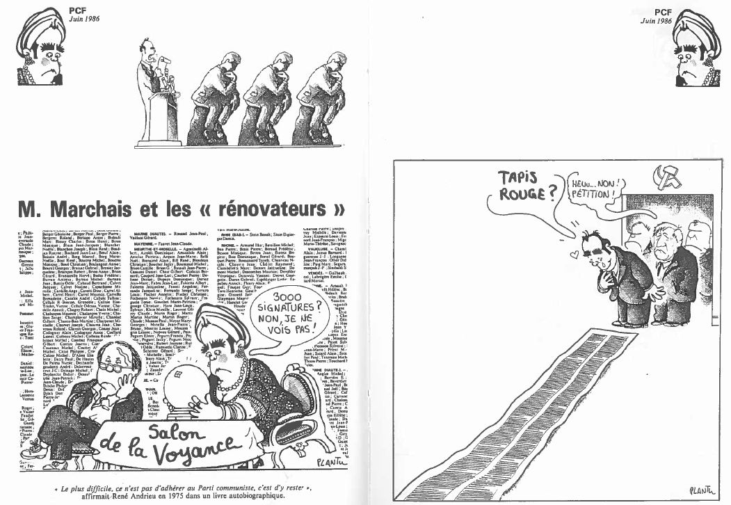 Plantu-ça manque de femmes (164) Juin 1986 rénovateurs
