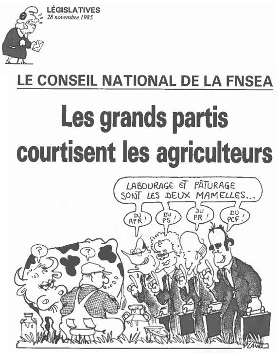 Plantu-ça manque de femmes (64) législatives 1985 FNSEA