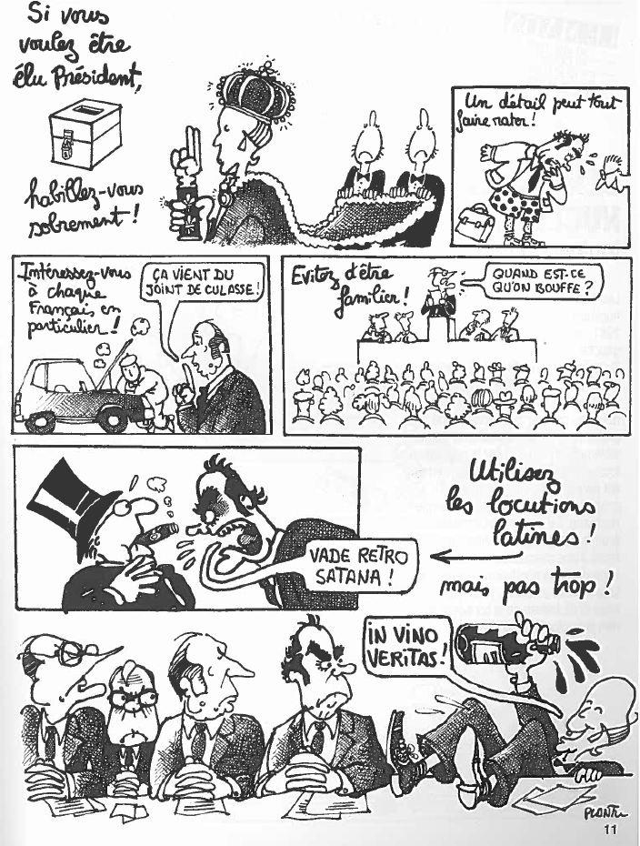 Plantu-Politic-Look (11) pour être élu Président