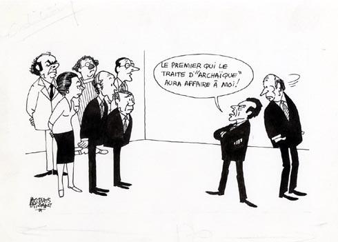 Faizant Jacques - Mitterrand archaique