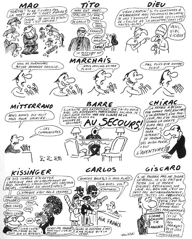 Wolinski-a gauche toute (15) Mao, Tito, Dieu, Marchais, etc...