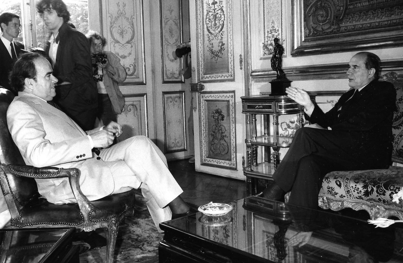Georges Marchais et François Mitterrand - Elysée - 14 Juillet 1981