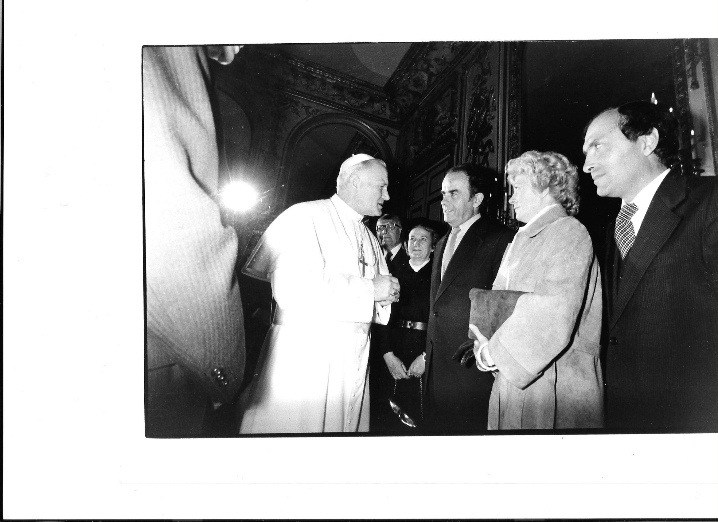 Georges Marchais et Jean-Paul II - Elysée -1980