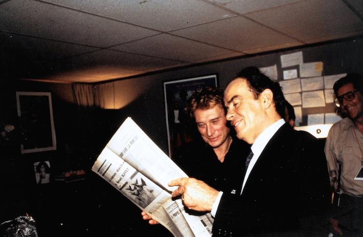 Georges Marchais et Johnny Halliday - Bercy -Lettres françaises