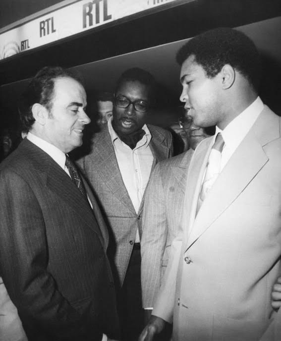 Georges Marchais et Mohammed Ali - Paris - 1975