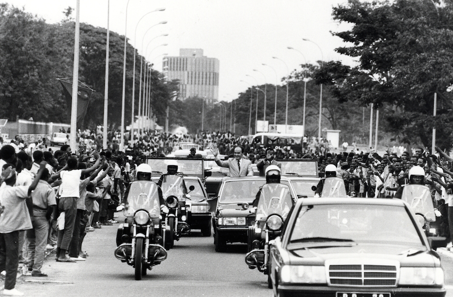 Georges Marchais au Mozambique - 1980