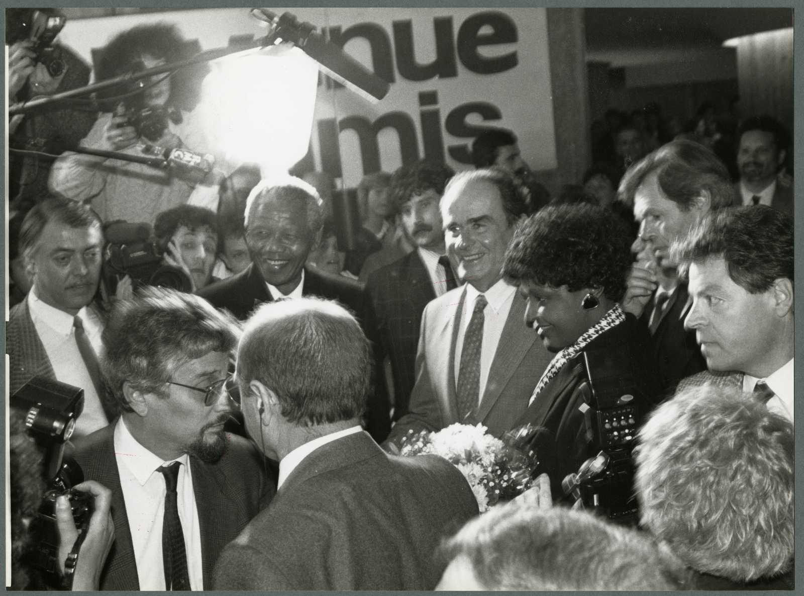 Georges Marchais et Nelson Mandela - Paris - 1990