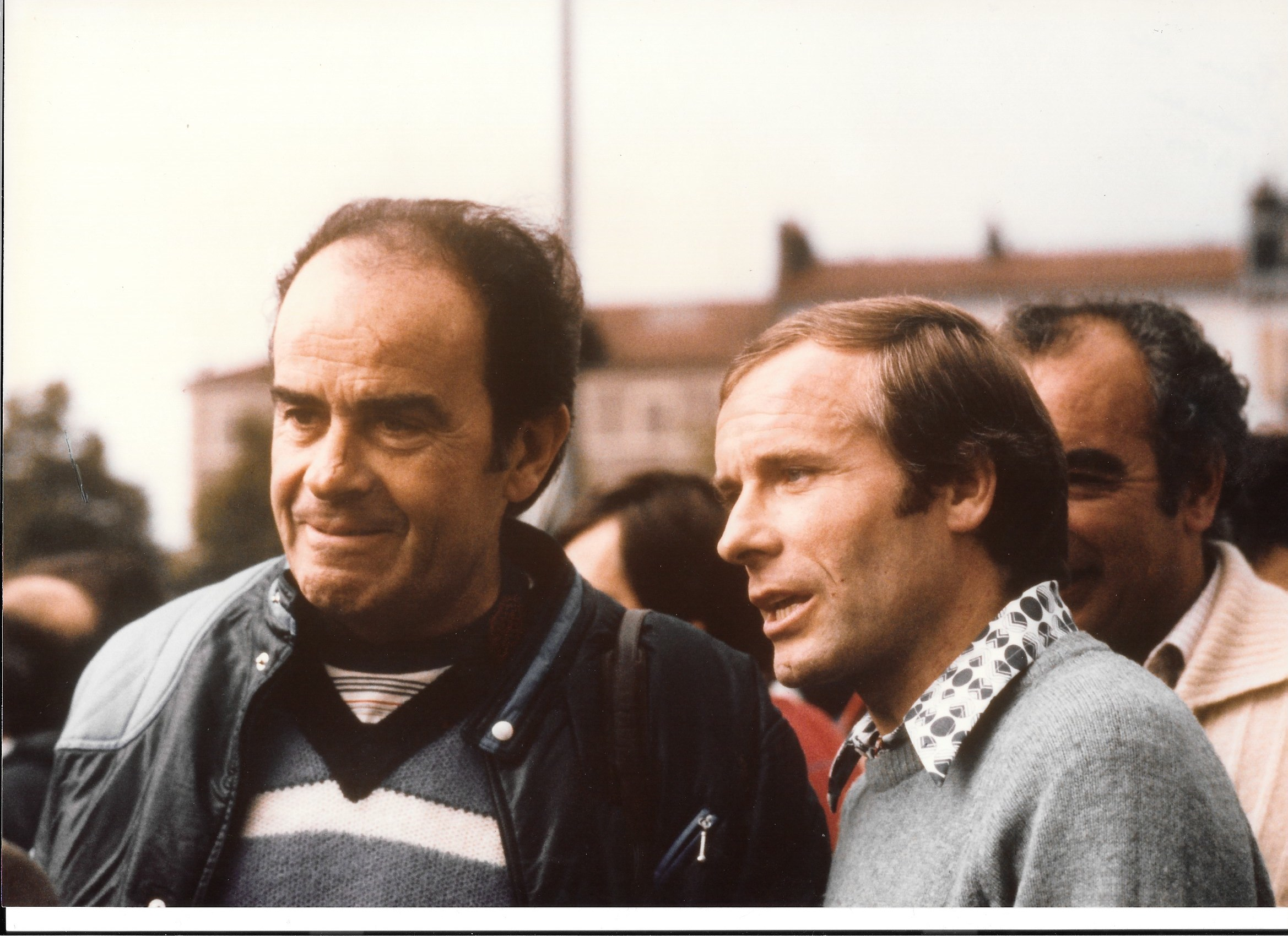 Georges Marchais sur le tour de France - 1980 - avec  Pierre Douglas