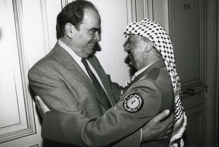 Georges Marchais et Yasser Arafat - Paris - 1989