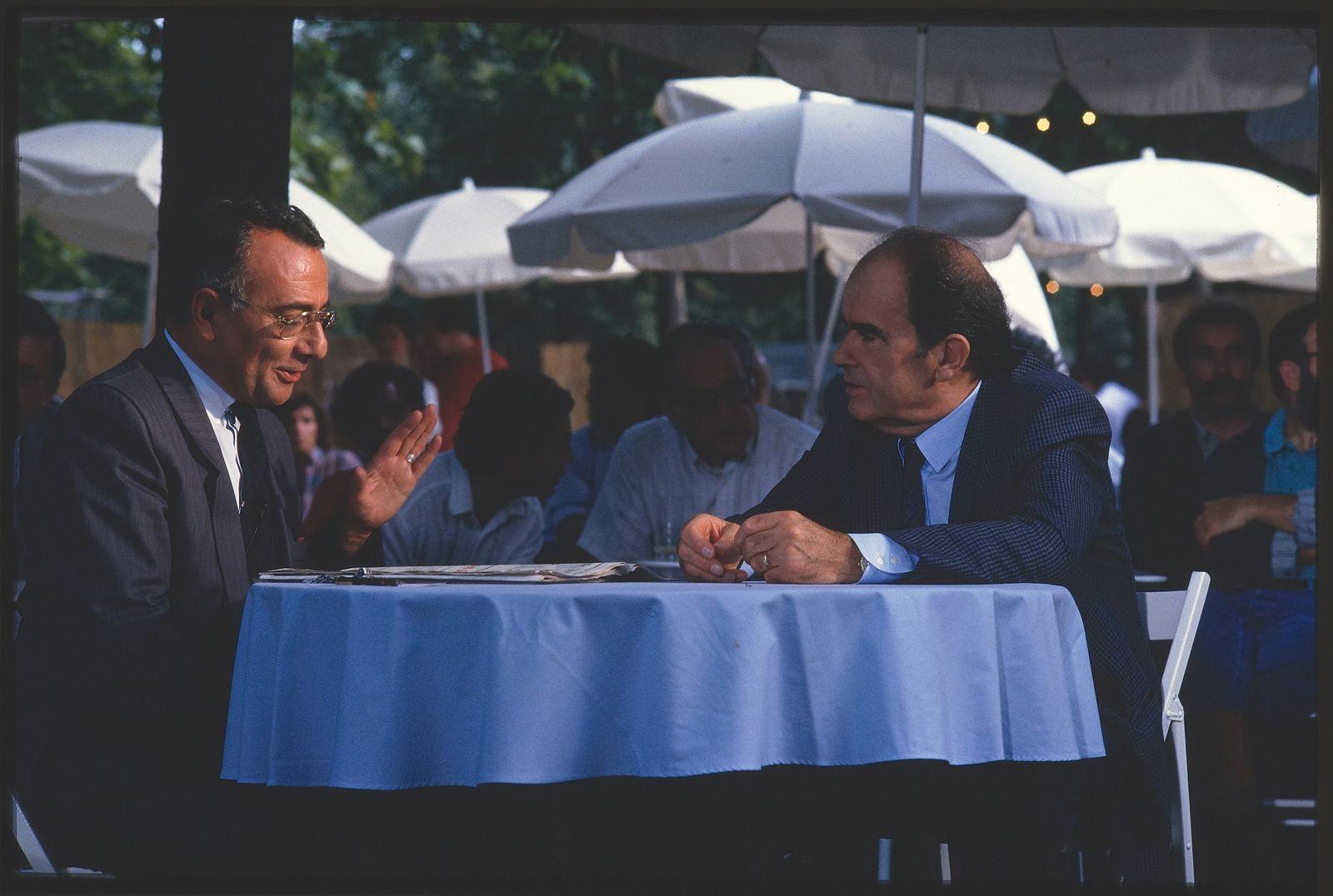 Georges Marchais et Yves Mourousi - fête de l'Huma - 1987
