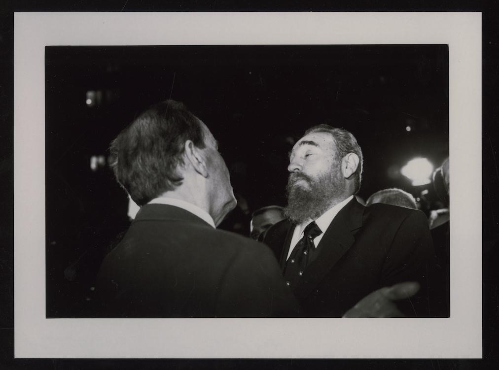 Georges Marchais et Fidel Castro - 1995