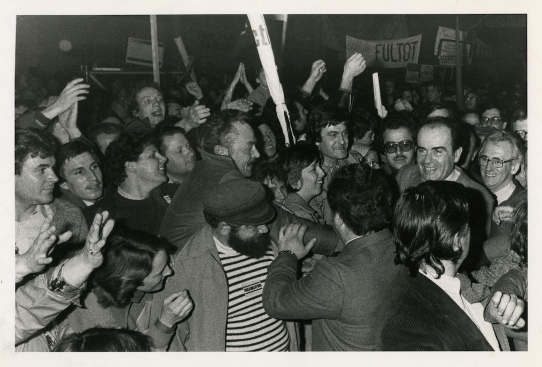 Georges Marchais en meeting à Rouen - 1981