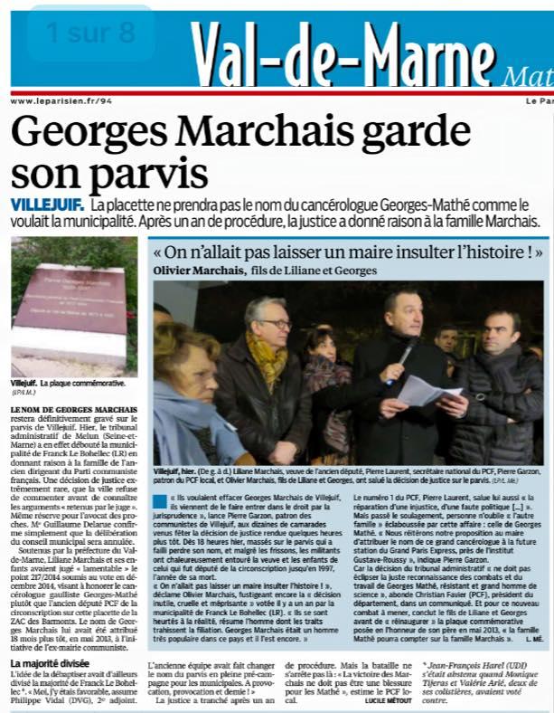 georges-marchais-parvis-villejuif-annulation-deliberation-le parisien-20160114